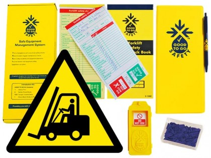 51309 Good to go safety forklift weekly kit  (320x125x40mm) Safety Sign