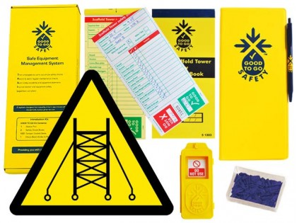 51310 Good to go safety scaffold tower weekly kit  (320x125x40mm) Safety Sign