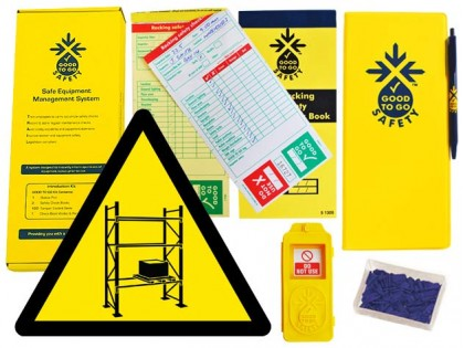 51312 Good to go safety racking weekly kit  (320x125x40mm) Safety Sign
