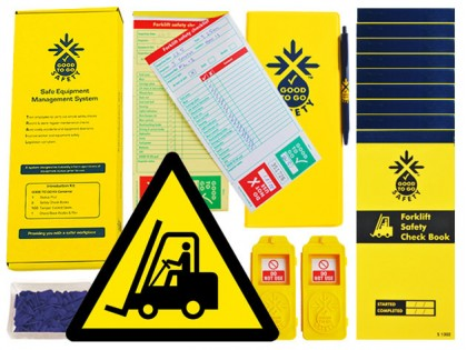 51313 Good to go safety forklift daily kit  (250x125x80mm) Safety Sign