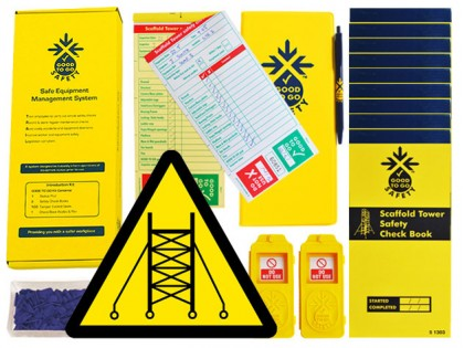 51314 Good to go safety scaffold tower daily kit  (250x125x80mm) Safety Sign