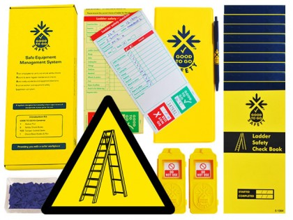 51315 Good to go safety ladders daily kit  (250x125x80mm) Safety Sign