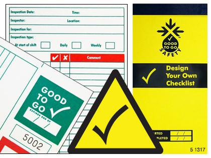 51317 Good to go safety blank check book  (H210xW100xD5mm) Safety Sign