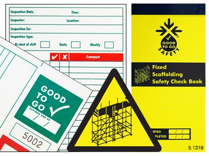 51319 Good to go safety fixed scaffold check book  (H210xW100xD5mm) Safety Sign