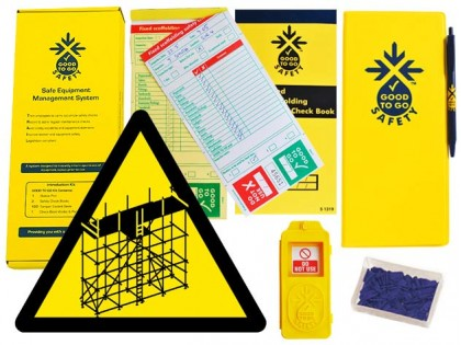 51320 Good to go safety fixed scaffold weekly kit  (320x125x40mm) Safety Sign