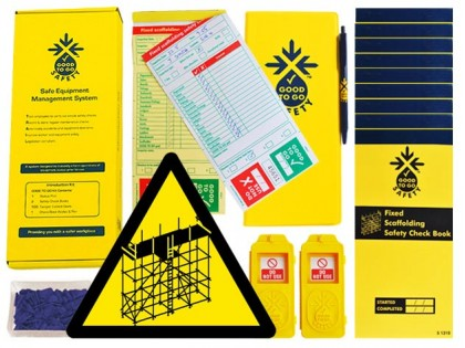 51321 Good to go safety fixed scaffold daily kit  (250x125x80mm) Safety Sign