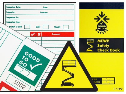 51322 Good to go safety MEWP check book  (H210xW100xD5mm) Safety Sign