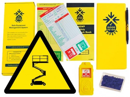 51323 Good to go safety MEWP weekly kit  (320x125x40mm) Safety Sign