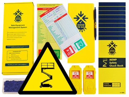 51324 Good to go safety MEWP daily kit  (250x125x80mm) Safety Sign