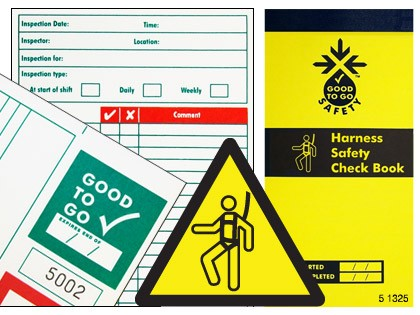 51325 Good to go safety harness check book  (H210xW100xD5mm) Safety Sign