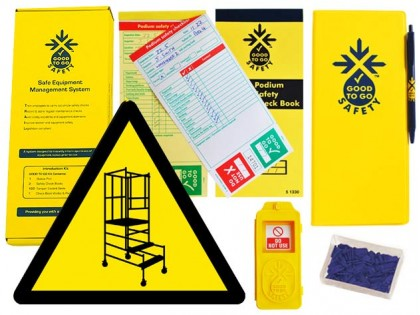 51331 Good to go safety podium steps weekly kit  (320x125x40mm) Safety Sign
