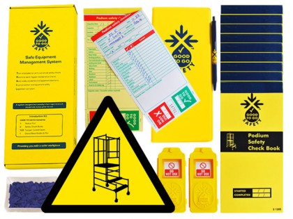 51332 Good to go safety podium steps daily kit  (250x125x80mm) Safety Sign