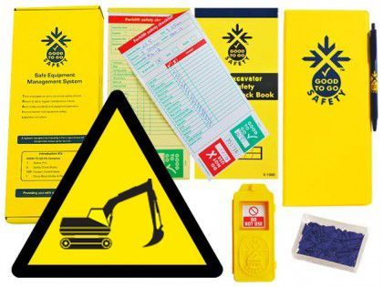 51343 Good To Go Safety Excavator Weekly Kit (1 tag, 100 seals, 2 check books & 1 wallet with pen)