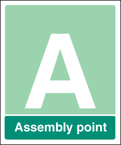 52119 Special Assembly point aluminium c/w channel 250x300mm  (250x300mm) Safety Sign