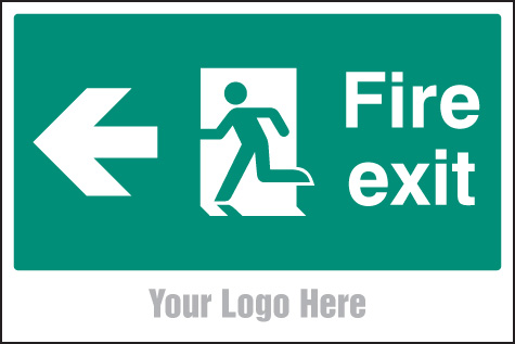 55790 Fire exit, arrow left site saver sign 600x400mm  (600x400mm) Safety Sign