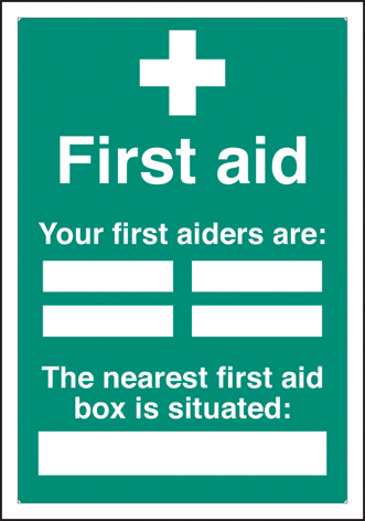 56027 First aiders the nearest first aid box is situated adapt-a-sign 215x310mm  (215x310mm)