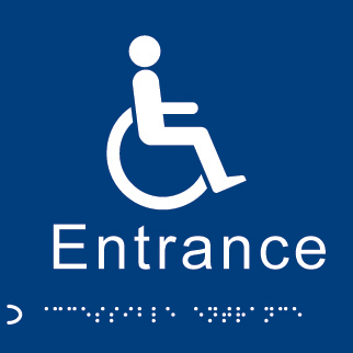 56106 Braille - Disabled entrance  (150x150mm) Safety Sign