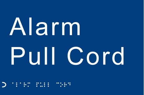 56127 Braille - Alarm pull cord  (225x150mm) Safety Sign