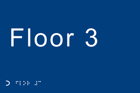 56132 Braille - Floor 3  (225x150mm) Safety Sign