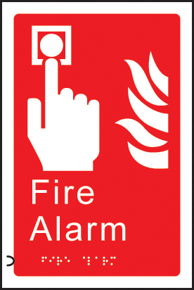 56178 Braille - Fire alarm  (150x225mm) Safety Sign