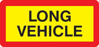 56296 Long vehicle panel 525 x 250mm reflective aluminium  (525x250mm) Safety Sign
