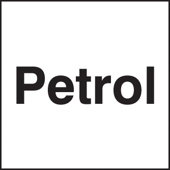 56350 Petrol 150x150mm self adhesive  (150x150mm) Safety Sign