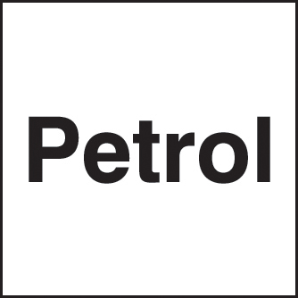 56487 Petrol 25x25mm self adhesive  (25x25mm) Safety Sign