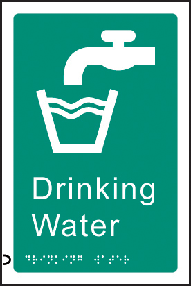 56489 Braille - Drinking water  (150x225mm) Safety Sign