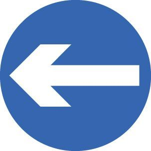 57703 Direction arrow left/right Class R2 Permanent 600mm (3mm aluminium composite) Safety Sign