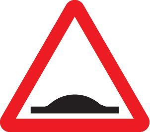 57752 Road hump ahead class R2 Permanent 600mm triangle (3mm aluminium composite) Safety Sign