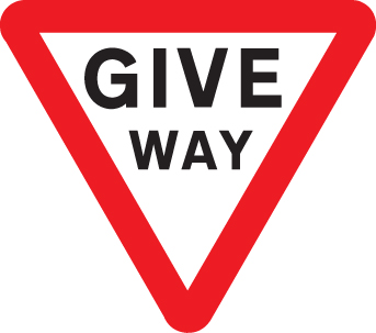 57829 Give way class RA1 600mm triangle  (600mm) Safety Sign