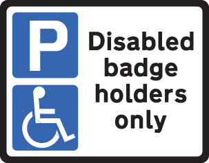 57832 Disabled badge holder class RA1 320x250mm  (320x250mm) Safety Sign