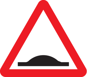 57852 Road hump ahead class RA1 600mm triangle  (600mm) Safety Sign