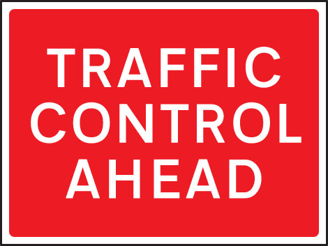 57912 Traffic control ahead 1050x750mm Class RA1 zintec  (1050x750mm) Safety Sign