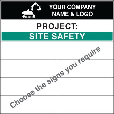 58047 Personalised bespoke site safety board 1200x1200mm  (1200x1200mm) Safety Sign