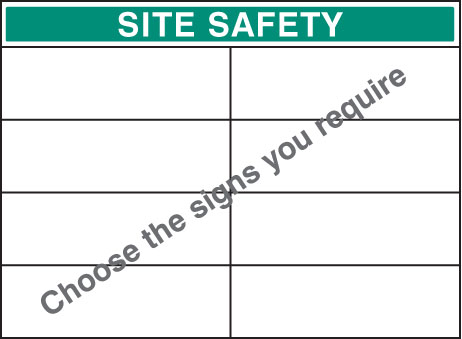 58048 Standard bespoke site safety board 900x1200mm  (900x1200mm) Safety Sign