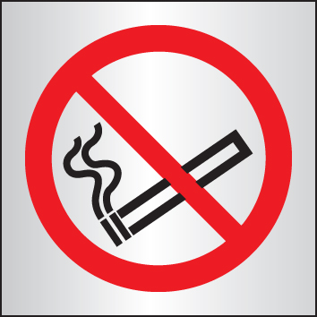 59049 No smoking 140x140mm aluminium  (140x140mm) Safety Sign