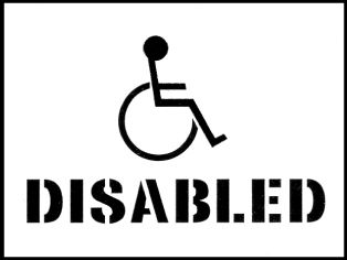 59647 Stencil kit 400x300mm - Disabled  (400x300mm) Safety Sign