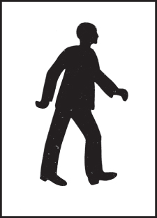 59648 Stencil kit 300x400mm - Pedestrian  (300x400mm) Safety Sign