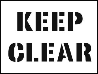 59660 Stencil kit 600x400mm - Keep Clear  (600x400mm) Safety Sign