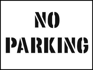 59662 Stencil kit 600x400mm - No Parking  (600x400mm) Safety Sign