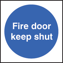 59703 100 S/A labels 100x100mm fire door keep shut  (100x100mm) Safety Sign
