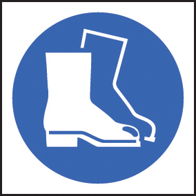 59712 100 S/A labels 50x50mm safety boots  (50x50mm) Safety Sign