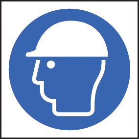 59717 100 S/A labels 50x50mm safety helmet  (50x50mm) Safety Sign