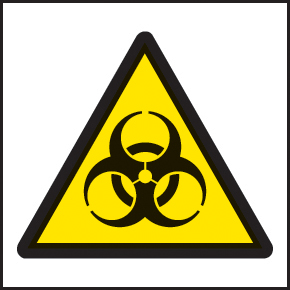 59724 100 S/A labels 50x50mm biological  (50x50mm) Safety Sign