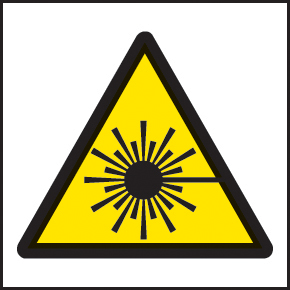 59726 100 S/A labels 50x50mm laser  (50x50mm) Safety Sign