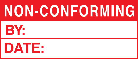 59751 100 S/A labels 50x20 non-conforming  (50x20mm) Safety Sign