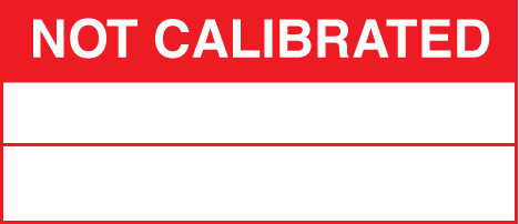 59756 100 S/A labels 50x20 not calibrated  (50x20mm) Safety Sign