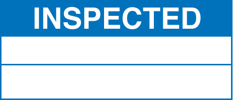 59758 100 S/A labels 50x20 inspected  (50x20mm) Safety Sign