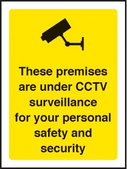 59790 Premises are under CCTV surveillance 75x100mm sav on face  (75x100mm) Safety Sign